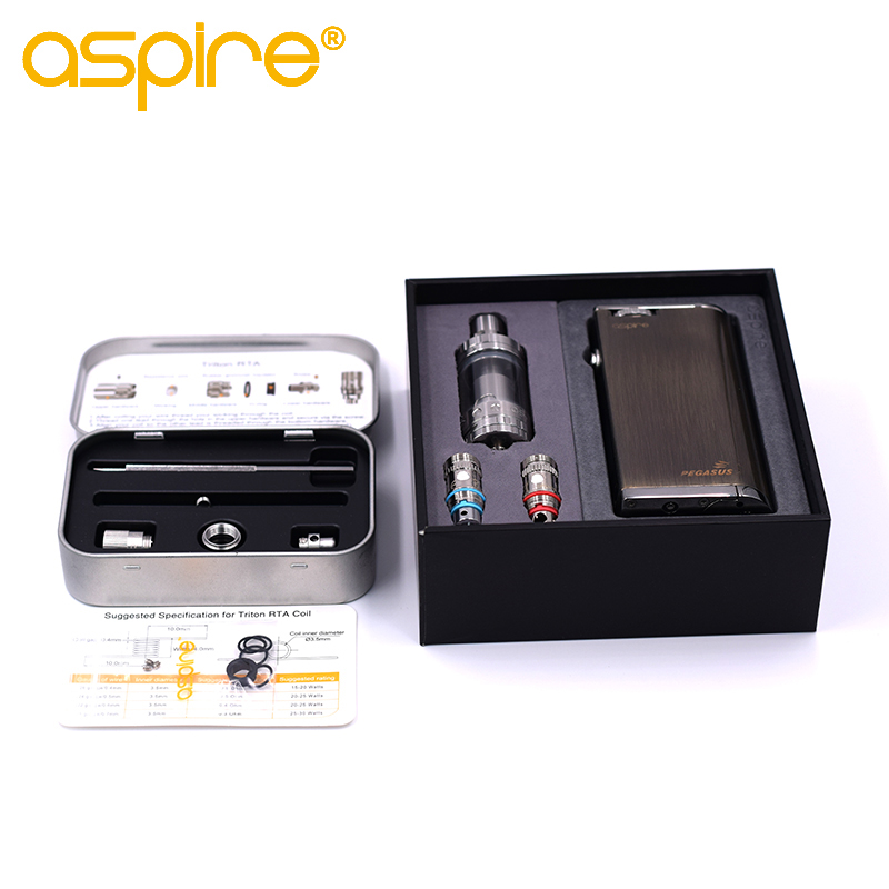 Original Upgraded Edition Aspire Odyssey Kit Vape Starter Kit With Aspire Pegasus Mod 75W Triton 2 Tank And Triton RTA 1Pcs/Lot стоимость