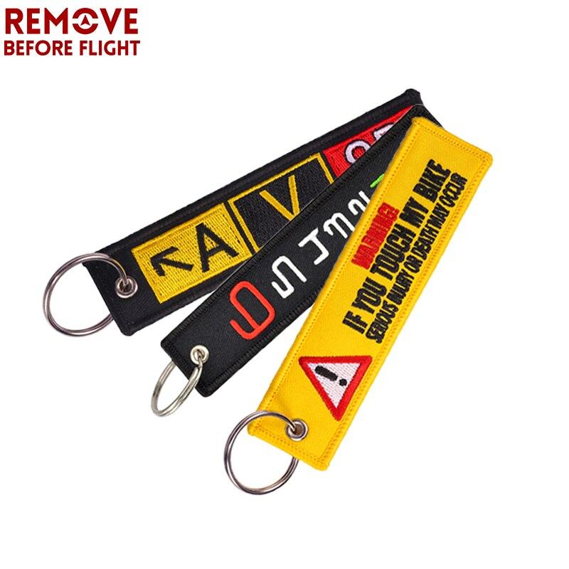 Remove Before Flight Schlüsselanhänger Rot Stickerei Auto Schlüsselanhänger Tag Key Ring Art Und Weise Keychain Luftfahrt Geschenke Chaveiro llavero Schlüsselring