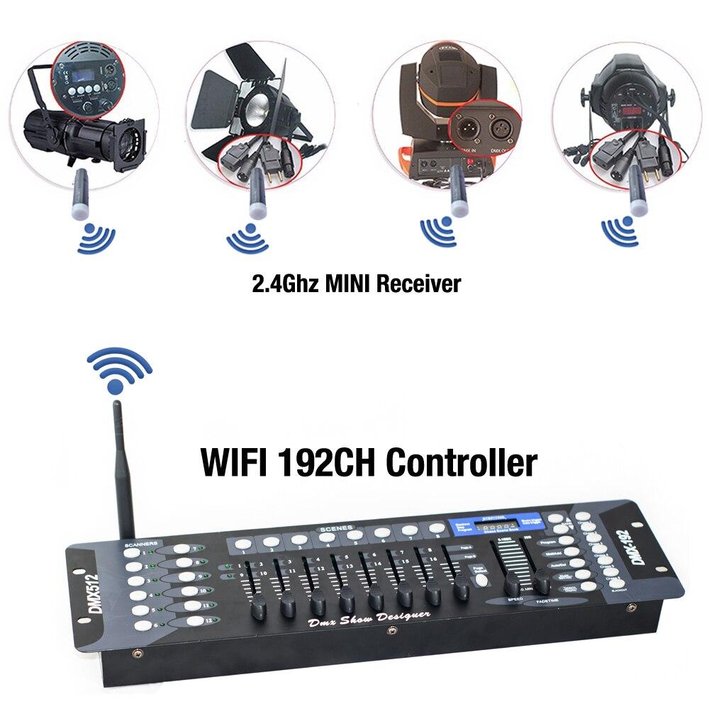 New Wireless DMX 192 Channel Console Compatibility Wireless DMX512 MINI Receiver Controller For Disco Stage Light