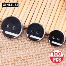 100pcs Round Resin Solid Color Buttons Convex Wooden Handmade High-grade Two Holes Lace Bottons For Clothing Decorativos