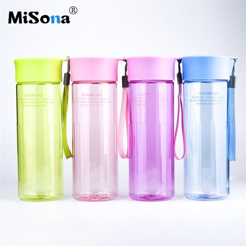 Misona Simple Fashion My Bottle 600ml Water Tea Infuser Drinkware For Outdoor Portable Shaker Sports Water Bottle BPA Free Gift