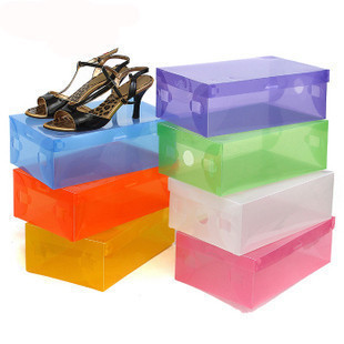 Ausuky Organizer Cases Bulk Foldable Colorful Plastic Shoe Storage Boxes Drawer Type Box  50