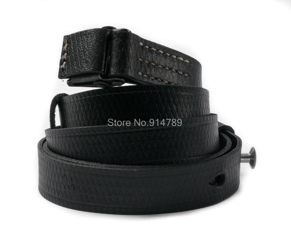 WW2 GERMAN ARMY MP40 MACHINE GUN LEATHER SLING STRAP BLACK 35766