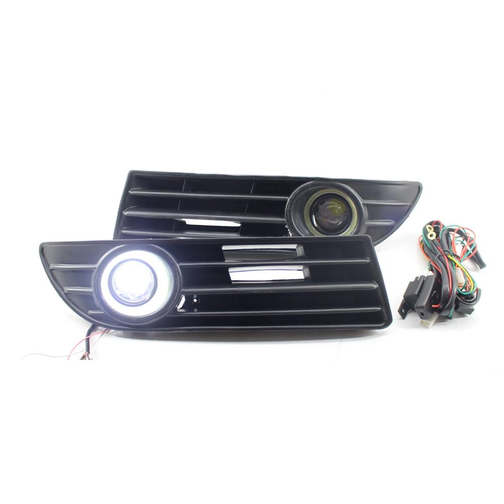 Droite + gauche pour feux lampes Grille H3 pour VW VOLKSWAGEN POLO 2005-2009 Kit de câblage accessoires avec lumière blanche