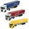 KAIDIWEI 1:50 Die cast Modelo de Carro Liga de Brinquedo de Simulação de Caminhão Transportador De Metal + ABS Brinquedos Para As Crianças