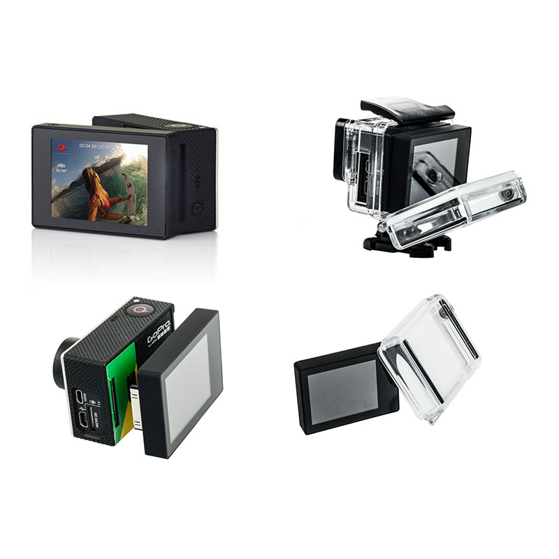 For Gopro LCD BacPac Display Screen + LCD Version Waterproof Protective Housing Case BacPac Backdoor Cover For Gopro Hero 3 3+ 4