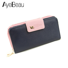 Long Designer Famous Brand Clutch Luxury Leather Ladies Women Wallets Female Purse Bag Money Card Holder Carteras Portfel Walet