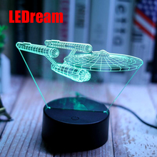 Strange new aviation aircraft 3 d small night lamp button USB science led home light spacecraft a