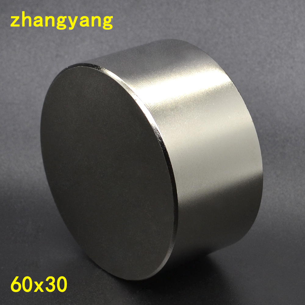 N52 Neodymium magnet 60x30 mm gallium metal new super strong round magnets 60*30 Neodimio magnet powerful permanent magnetic 50 30 1pc strong neodymium magnet n52 50mm x 30mm powerful neodimio super magnets imanes free shipping