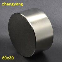 N52 Neodymium magnet 60x30 mm gallium metal new super strong round magnets 60*30 neodymium magnet powerful permanent magnetic