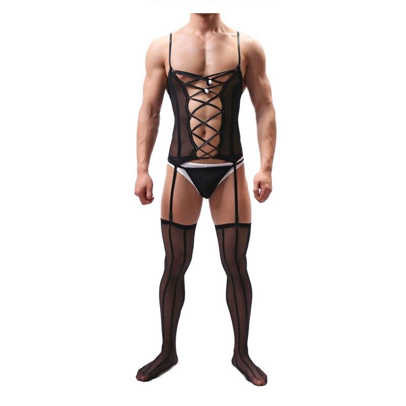 Sexy Body Men Body Suit  Lingerie Bodysuit Underwear For Men Bodystocking Sexy Lingerie Open Crotch Lingerie Hot Erotic