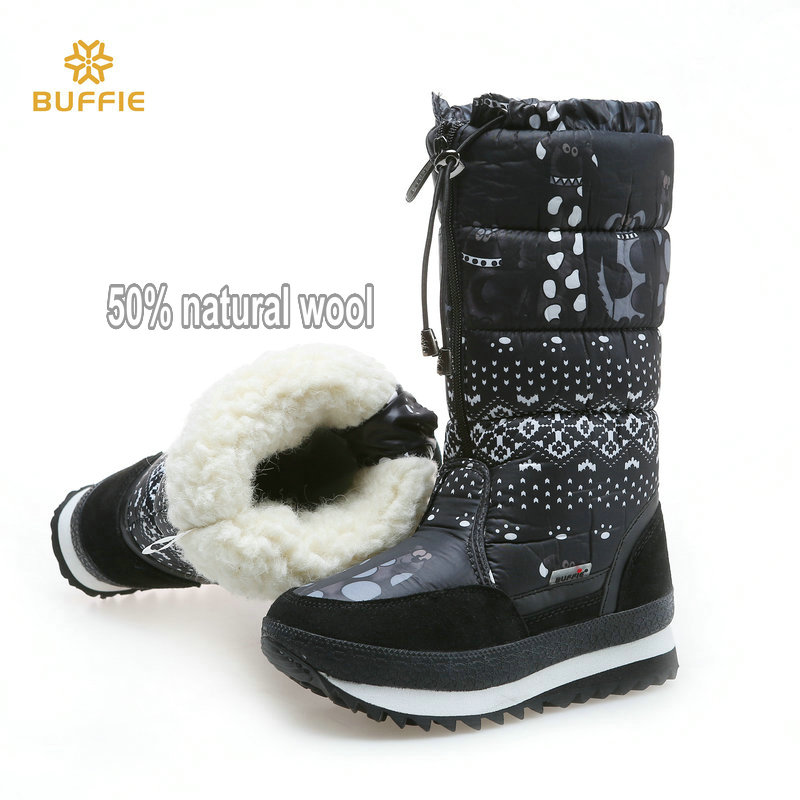 Natural wool Winter boots mixed fur Women Snow Boot Warm shoes Plus size up to 41 fast zip put on female popular style free ship цена