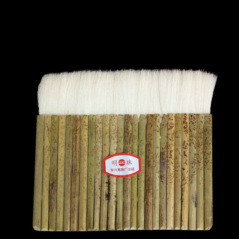 10pcs/pack High Quality Wool Brushes Bamboo Handle Paint Brush For Painting Pictures Oil Watercolor Painting 8/10/24 Joint Brush
