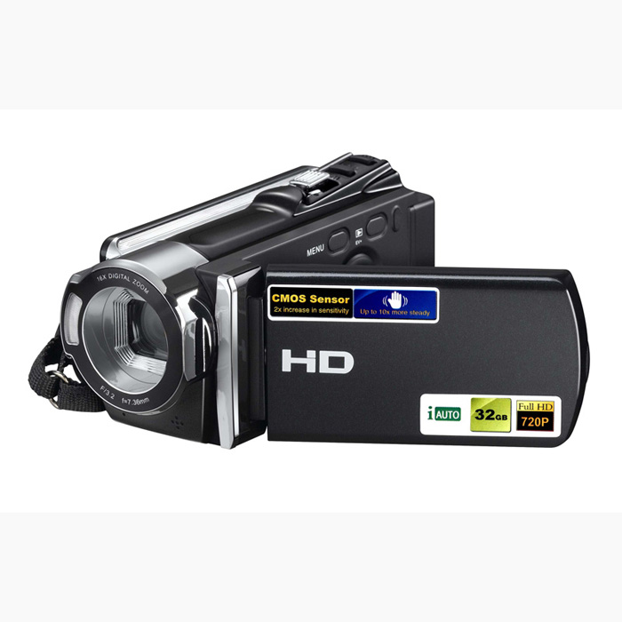 Free Ship Newest Portable Camcorder Home Use 720P HD Digital Video Camera 3 inches of TFT-LCD Display 16x Digital Zoom DV Camera hot sale easy use hd 720p 12m 8x digital zoom video camcorder camera gift for family happy recording 1pc