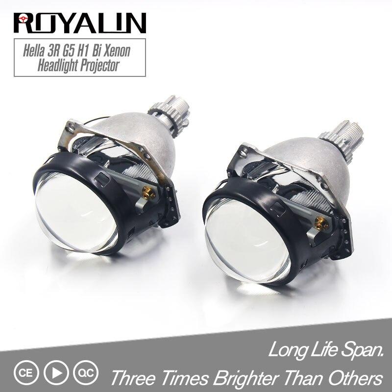 ROYALIN Hella 3R G5 H1 Bi Xénon Projecteur Automobiles H4 H7 Lumières Lentille Universel Voiture HB3/4 HID projecteur Rénovation