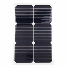 18V 20W Solar Power Panel Car Boat Battery Charger with Clip
