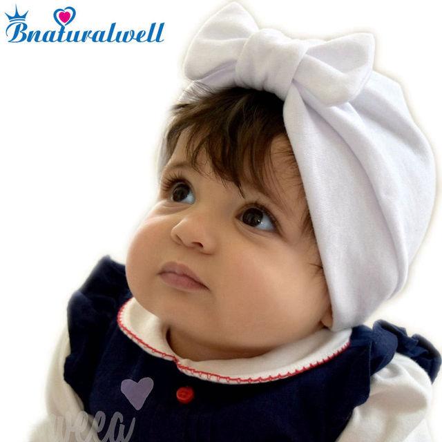 3e143db8e09 Bnaturalwell Girl Boy Cap Autumn Baby Cotton Hat Children Hats Toddler Kids  Hat Baby turban hat with bow Toddler beanie H114S