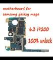 Mainboard para samsung galaxy mega 6.3 desbloqueado i9200 motherboard, europa Versão Original com Chips