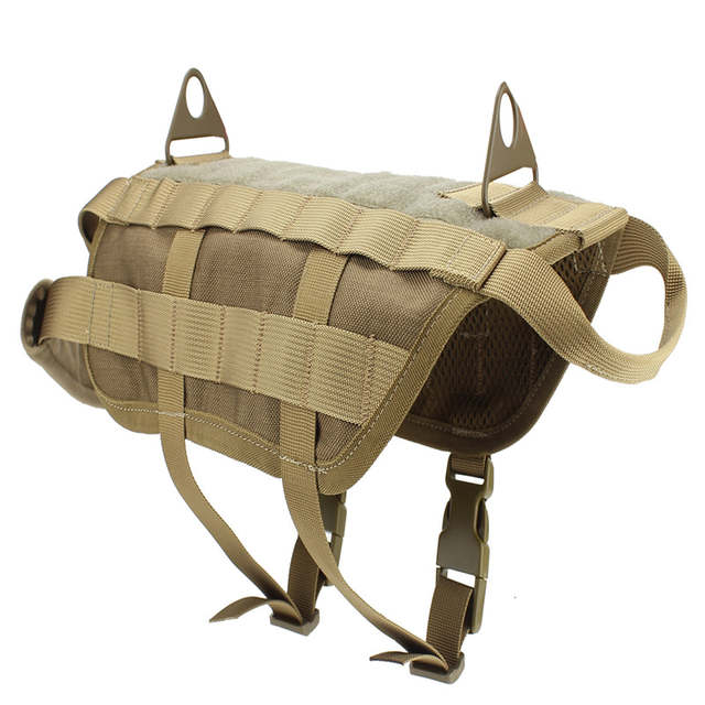 3cde886b5e58 placeholder Military Tactical US Army Law Enforcement K9 Training Harness  Hunting Dog Vest Airsoftsports Paintball Gear 9