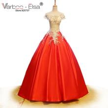 VARBOO_ELSA Satin Ball Gown Bridal Gown Wedding Dress