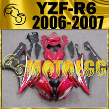 Motoegg Injection Fairing Fit YZF-R6 YZF R6 2006 2007 Red Black Y66M52 + Tank  Motorcycle plastic
