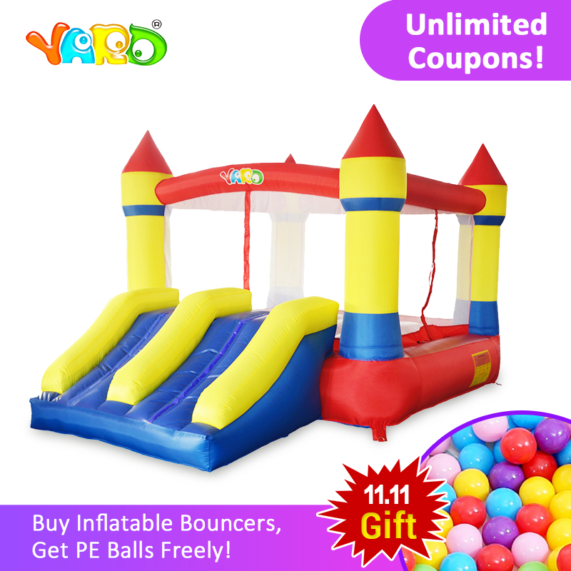 YARD Free PE balls Inflatable Bouncer Castle Jumping House Double Sildes Playground Free Blower for Kids Inflatable Bouncer outdoor inflatable boucy castle for kid and adult inflatable moonwalk jumper for sale inflatable bouncer with free air blower