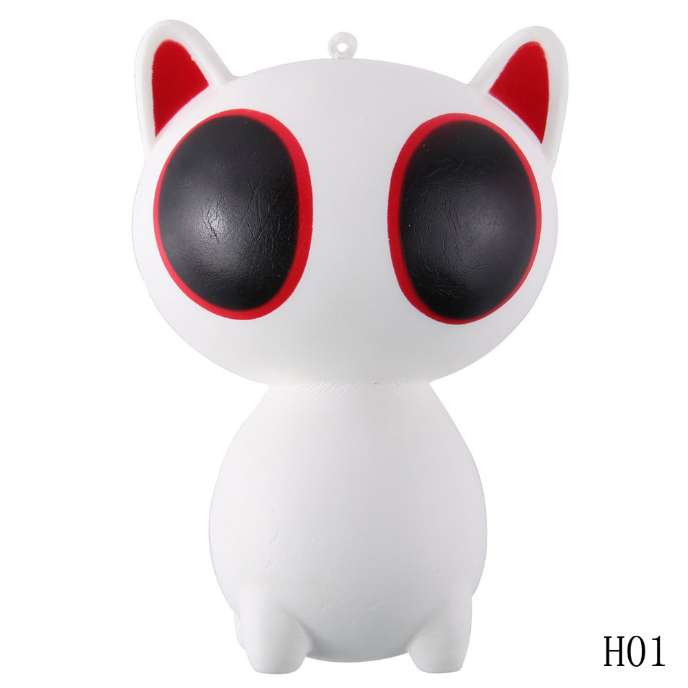 2017 Stress Relief Toy Cat With Big Eyes Slow Rising Relieves Stress Anxiety Toy For Child Adult Anxiety Attention