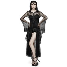 2017 Gothic Steampunk Sexy Lace Spider Web Long Coat with Hoodie Dress Women Halloween Cosplay Hooded Jacket Coats