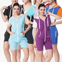 Nordic Way Short Sleeve One Piece Jumpsuit Adult Women Romper Unisex Summer Playsuit