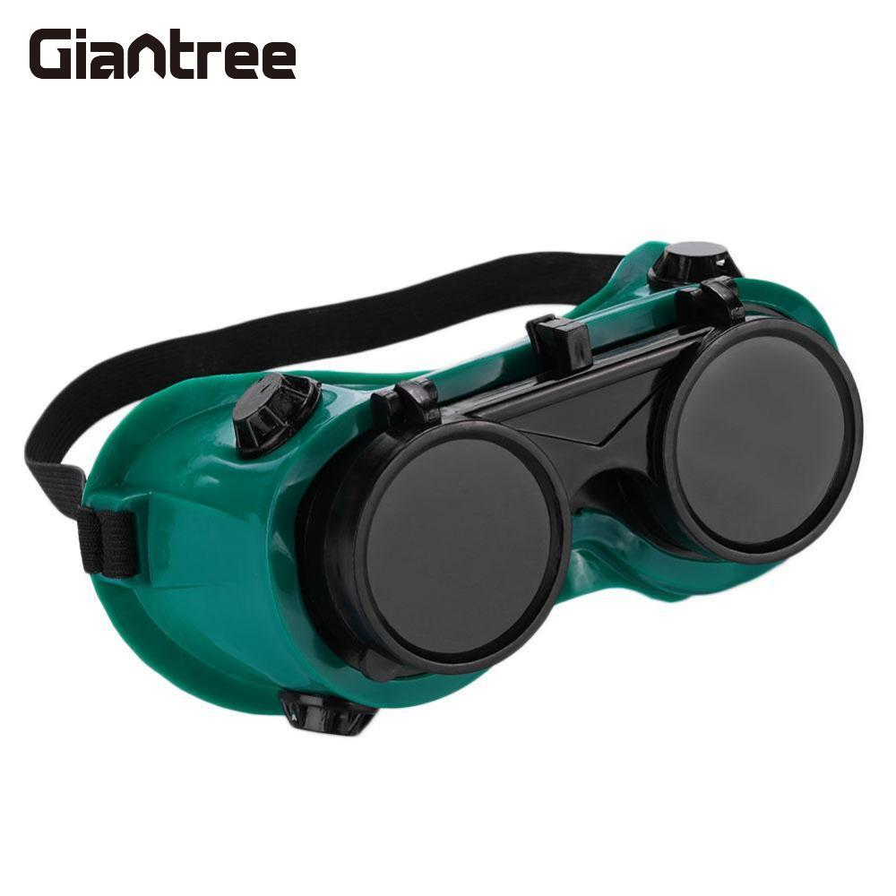 Giantree Welding Safety Goggles Glasses Flip Up Lenses Protective Eyewear Green 2 piece male bnc crimp on connector cctv rg59 coax bnc crimp on bnc male adapter connector for cctv camera 100pcs lot