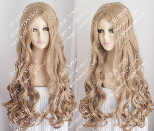 2016 new wig Strawberry Blonde short hair pear head fashion women Curly  hair wig Europe and United States sexy girl wigs f2e255b34