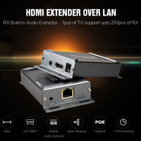 VE891 120m IP HDMI Extender Independent 3.5mm Audio IR Separation over TCP IP LAN UTP Cat5e cable network Router cascading mode