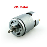 795 DC Motor Large Torque High Power DC12V 24V Motor Double Ball Bearing Mute High Speed Round Axis