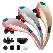 Electric Dolphi Cervical Vertebra Massager Device Vibrating infrared Shiatsu Body Kneading Shoulder Back Neck Massage Relaxation