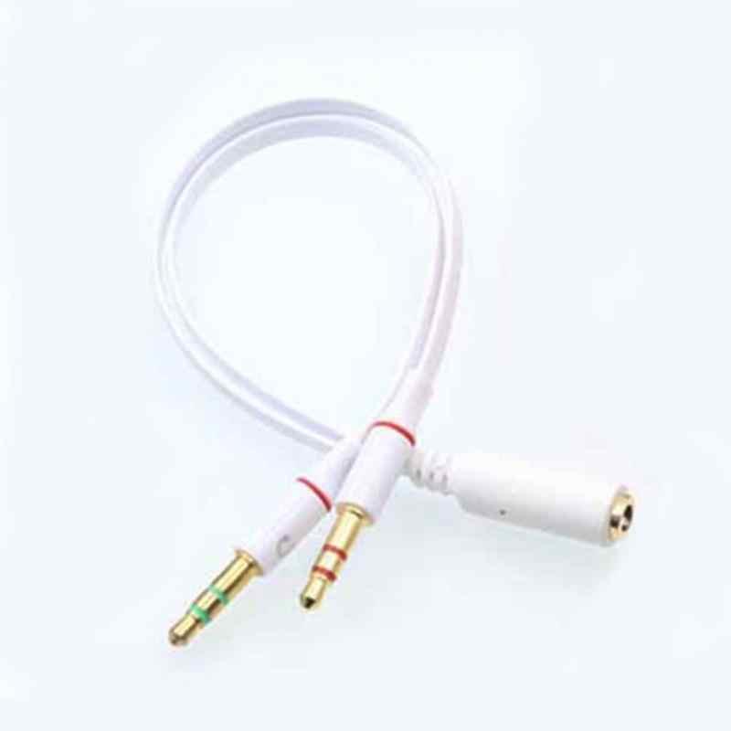Аудио кабель 3,5 мм двойной 2 штекера к гнезду разъем стерео аудио гарнитура наушники телефон к ПК микрофон Y сплиттер кабель #2