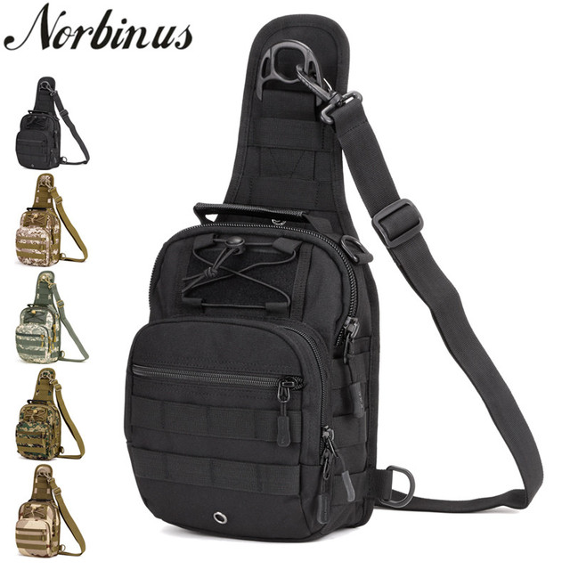 Norbinus 2018 Mens Shoulder Handbag Military Chest Bag Sling Pack Tactical Crossbody Bags for Men Waterproof Nylon Belt Bags