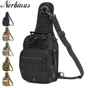 Image 1 - Norbinus 2018 männer Schulter Handtasche Military Brust Tasche Sling Pack Taktische Umhängetaschen für Männer Wasserdichte Nylon Gürtel Taschen