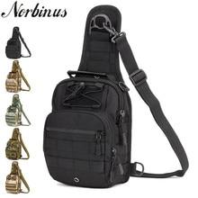 Norbinus 2018 メンズショルダーバッグ軍事胸バッグスリングパック戦術的なクロスボディ男性防水ナイロンベルトバッグ