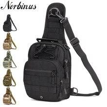 Norbinus Bolso de hombro para hombre, bolsa de pecho militar, bandolera táctica, bolsos cruzados para hombre, resistente al agua, con cinturón de nailon, 2018
