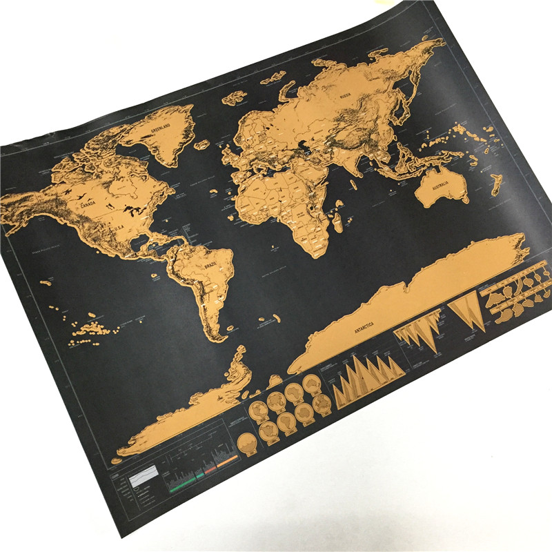 Travel world map personalized world map black gold poster traveler travel world map personalized world map black gold poster traveler national geographic wall sticker home decoration in wall stickers from home garden on gumiabroncs Choice Image