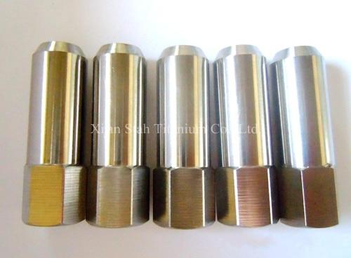 Titanium TC4 GR5 Car Wheel Tuner Lug Nut Bolts 12 X 1.25 X 60mm / 12 X 1.5 X 60mm Light Weight 45g/pc Hight Strength > 900MPa