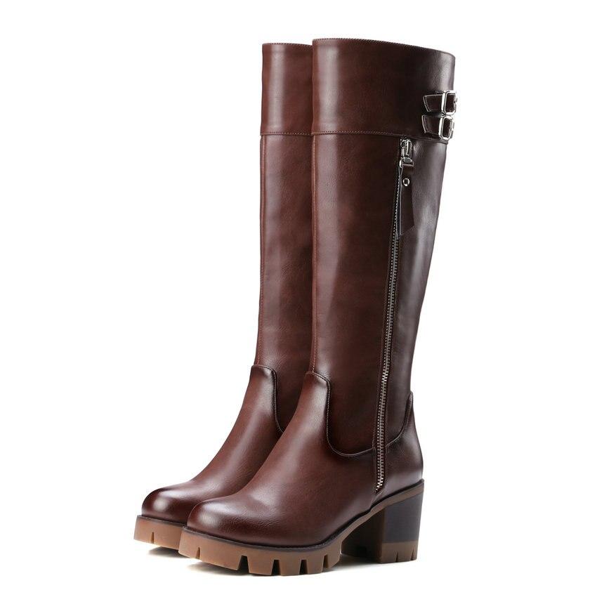 Online Get Cheap Brown Knee High Boots -Aliexpress.com | Alibaba Group
