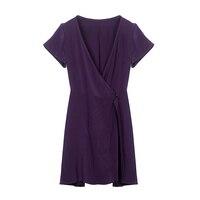 100% платье из шелкового крепа Puresilk натурального шелка Для женщин летнее платье цельнокроеные платья
