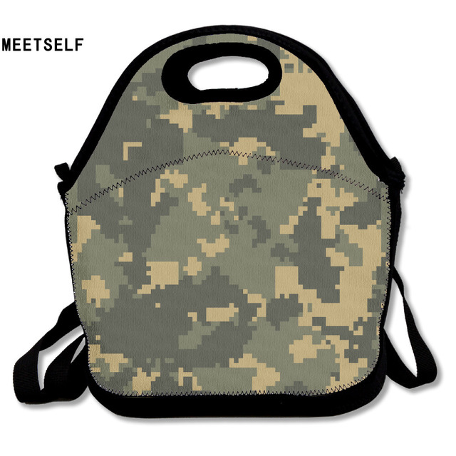 Samcustom 3d Print Camo Lunch Bags Insulated Waterproof Food Bag Packages Womens Kids Babys Boys