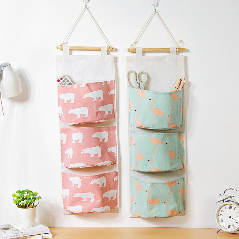 Alta calidad 3 bolsillos sobre el paño de la puerta del armario - Organización y almacenamiento en la casa