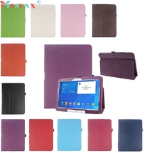 """Mosunx SimpleStone Folio Cubierta de Cuero Para Samsung Galaxy Tab 4 10.1 """"SM-T530 Tablet June02"""