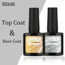ROSALIND 10ML Top Coat  Base Coat Gel Nail Polish Gel Polish Nail Art  UV LED Soak-Off multi-use gel lacquer