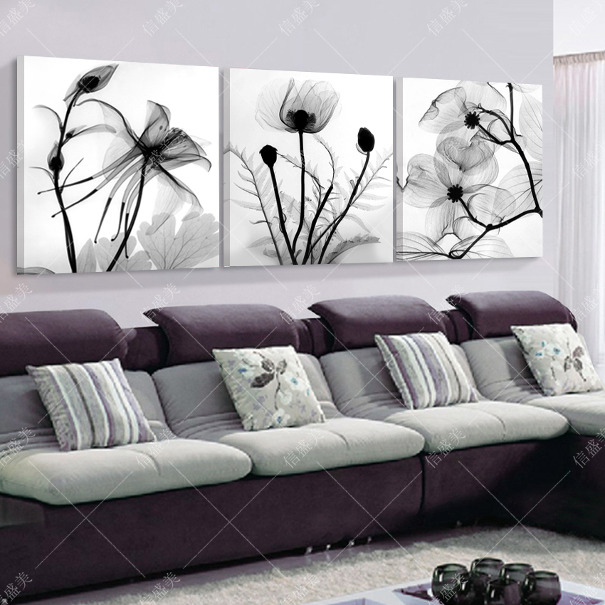 Achetez en gros black and white flower canvas painting en for Quadri moderni minimalisti