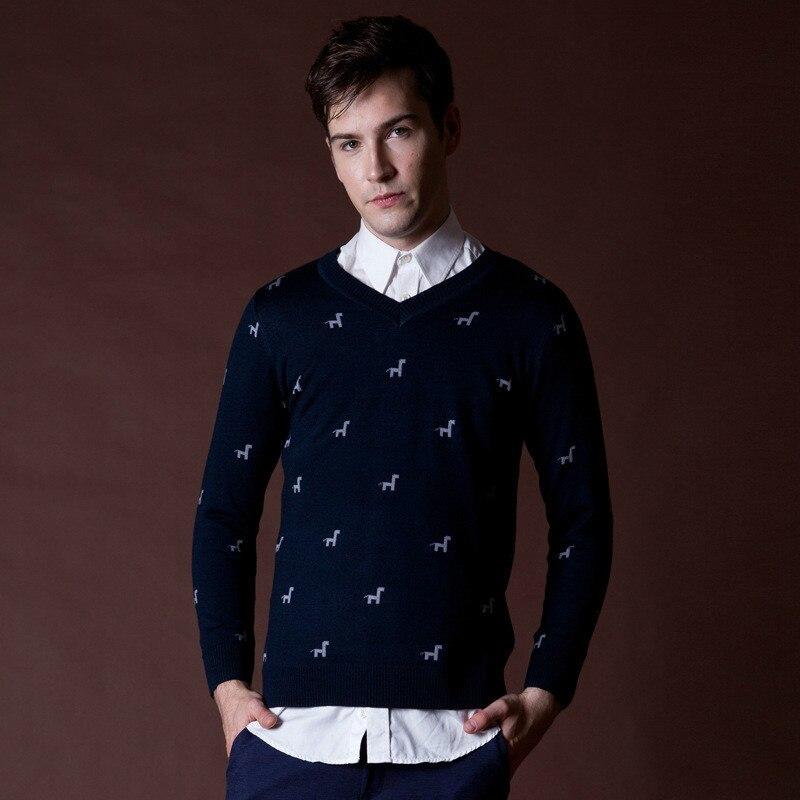 Suéter con hombres ciervos patrones de tejido Jacquard 2015 otoño ...