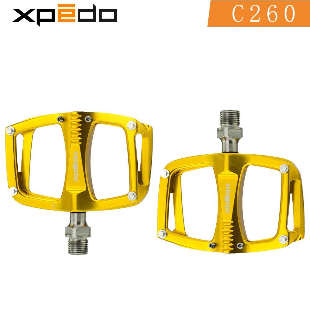 Wellgo xpedo C260 VTT Route Roulement Scellé Plate-Forme En Aluminium Pédales 195 g/paire titanium broche vélo pédales - 4